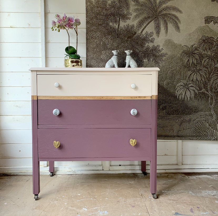 Quirky Painted Chest of Drawers