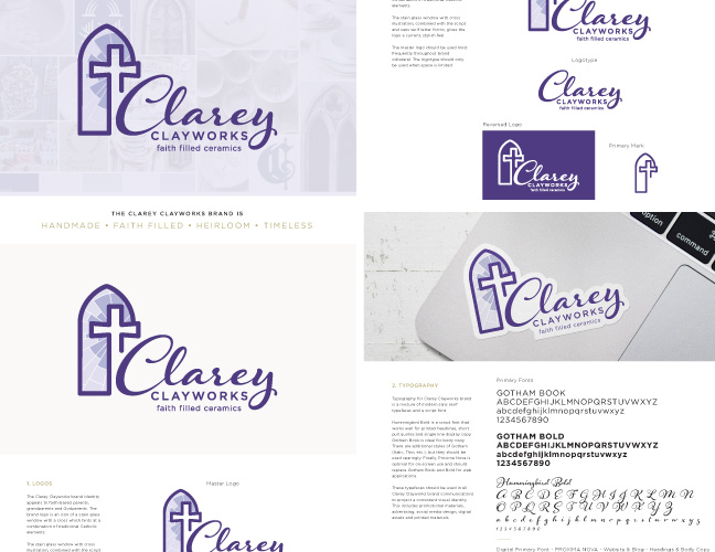 Vale Design - Clarey Clayworks Brand Style Guidelines