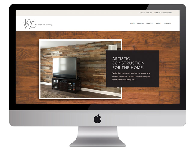 Vale Design - The Accent Wall Co Squarespace website design