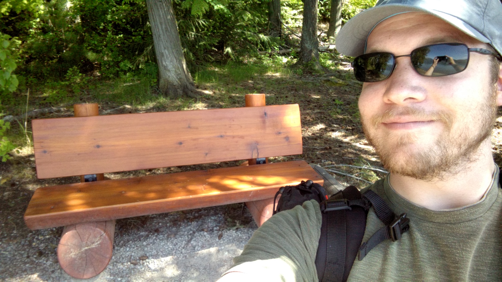 A happy little bench.