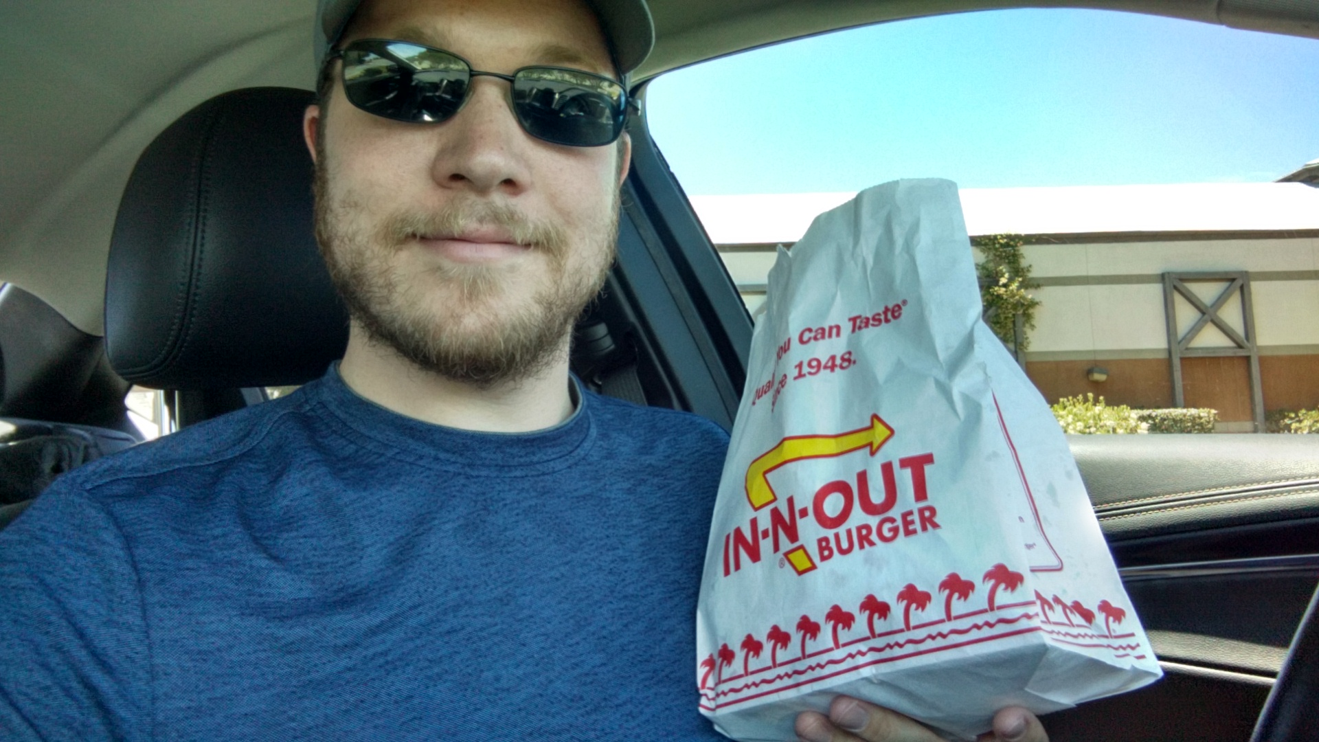 My first In-N-Out Burger, because I needed a selfie.
