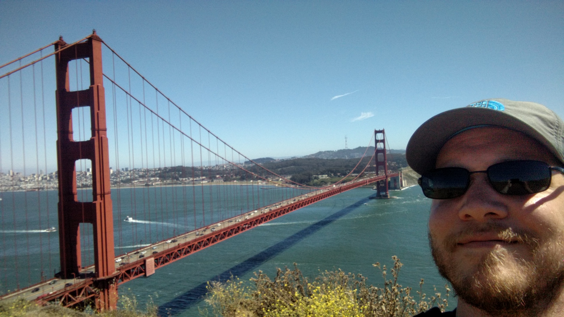 The Golden Gate Bridge. Which is red for some reason.