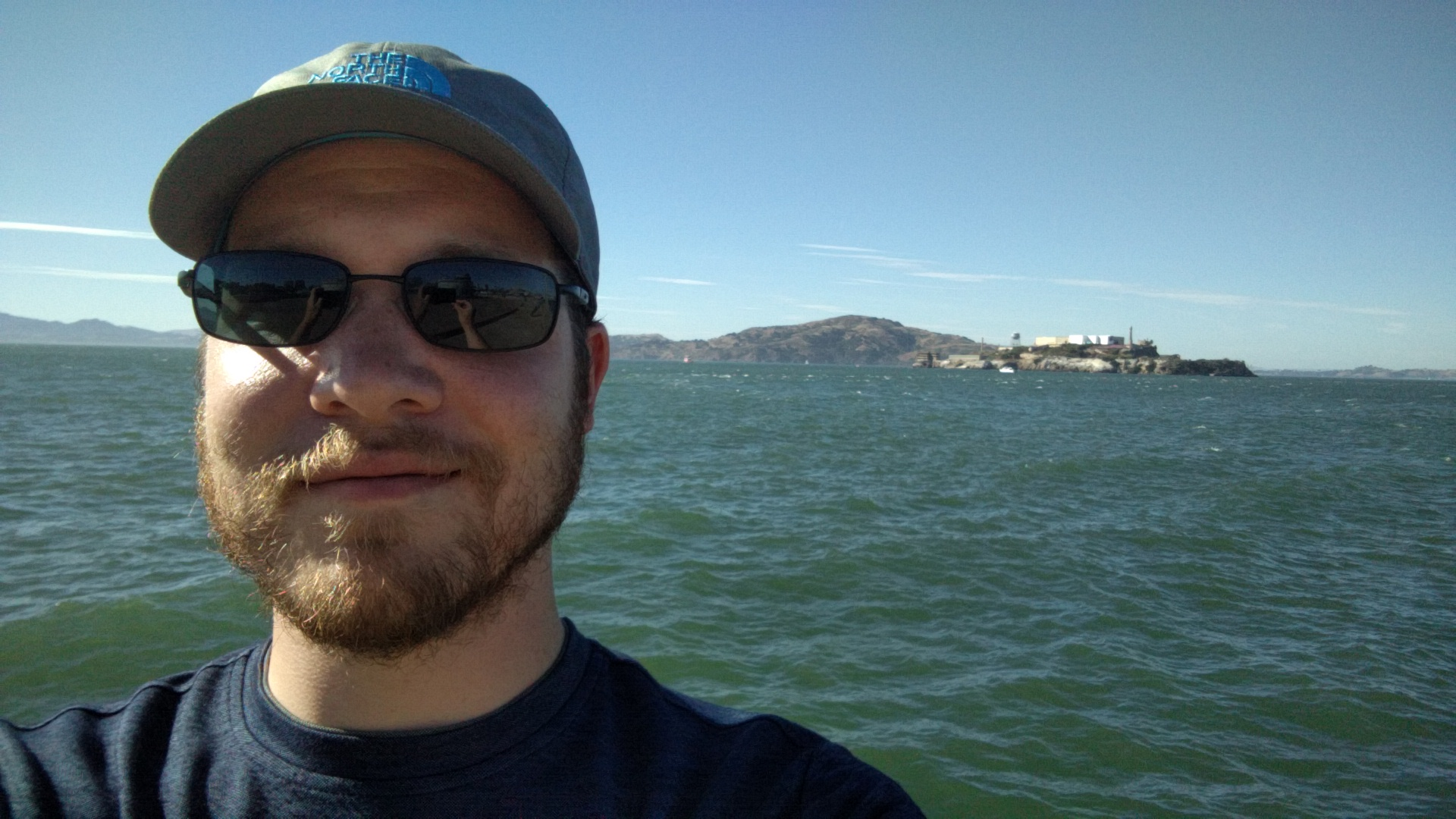 Alcatraz from that big curved pier in San Francisco.