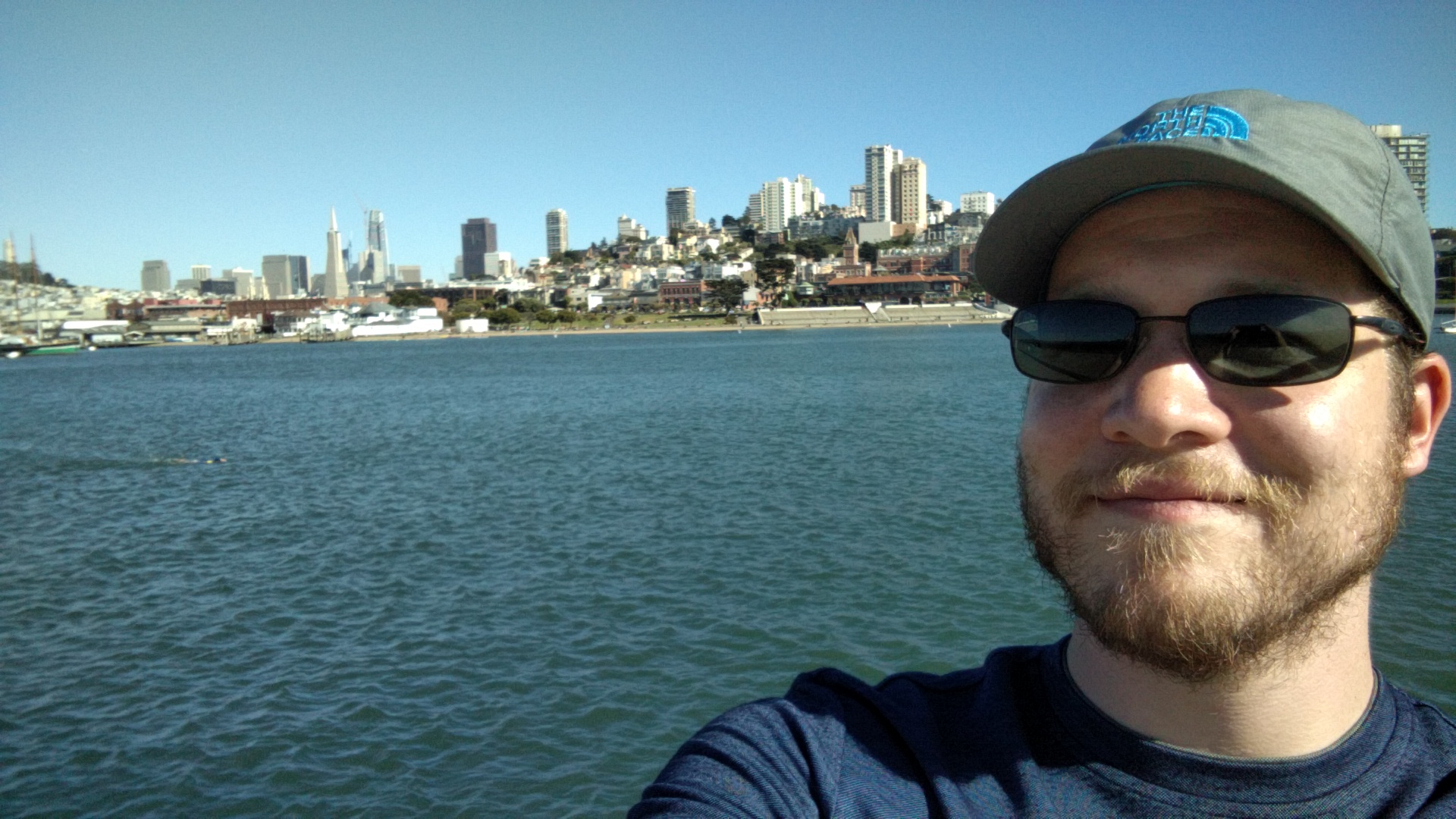 San Francisco from that big curved pier in San Francisco.