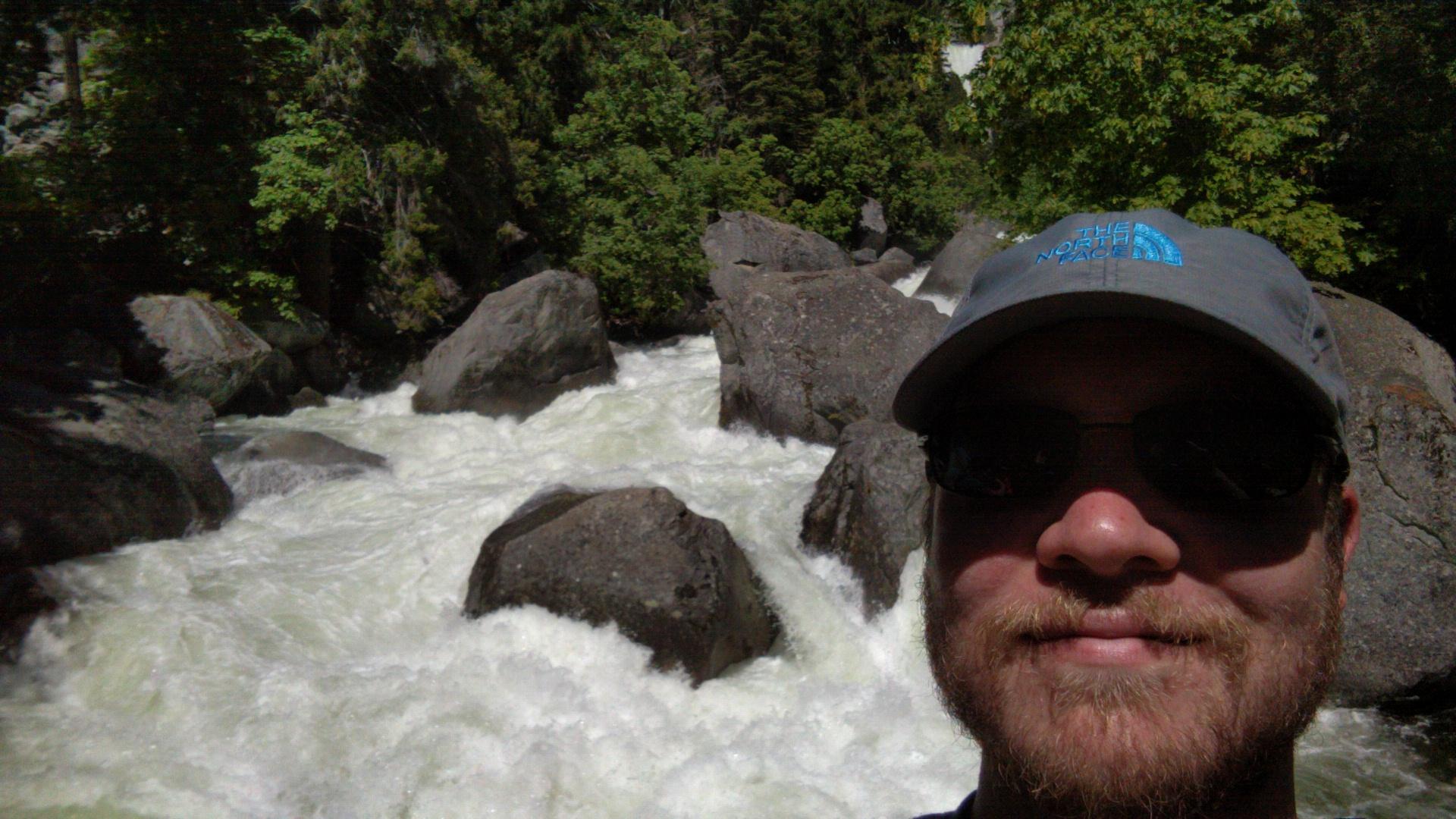 A waterfall or something in Yosemite.