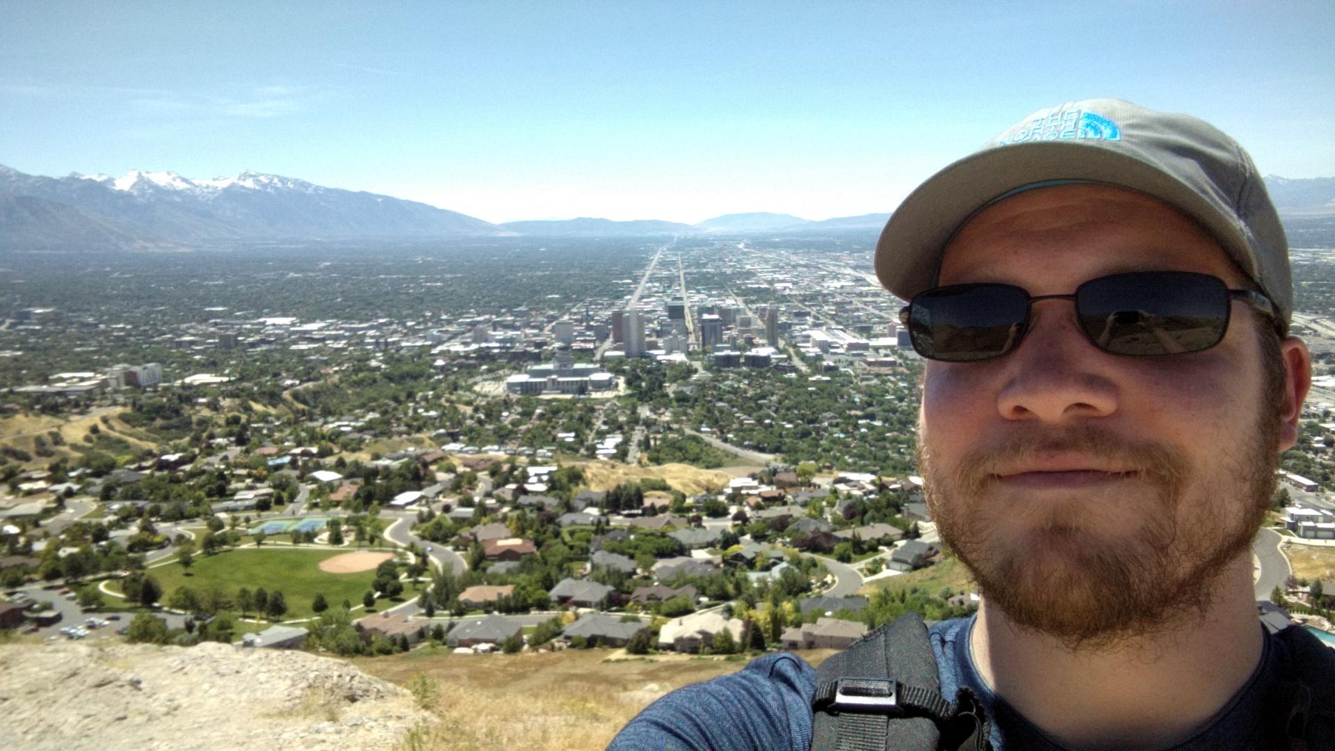 Salt Lake City from Ensign Peak.
