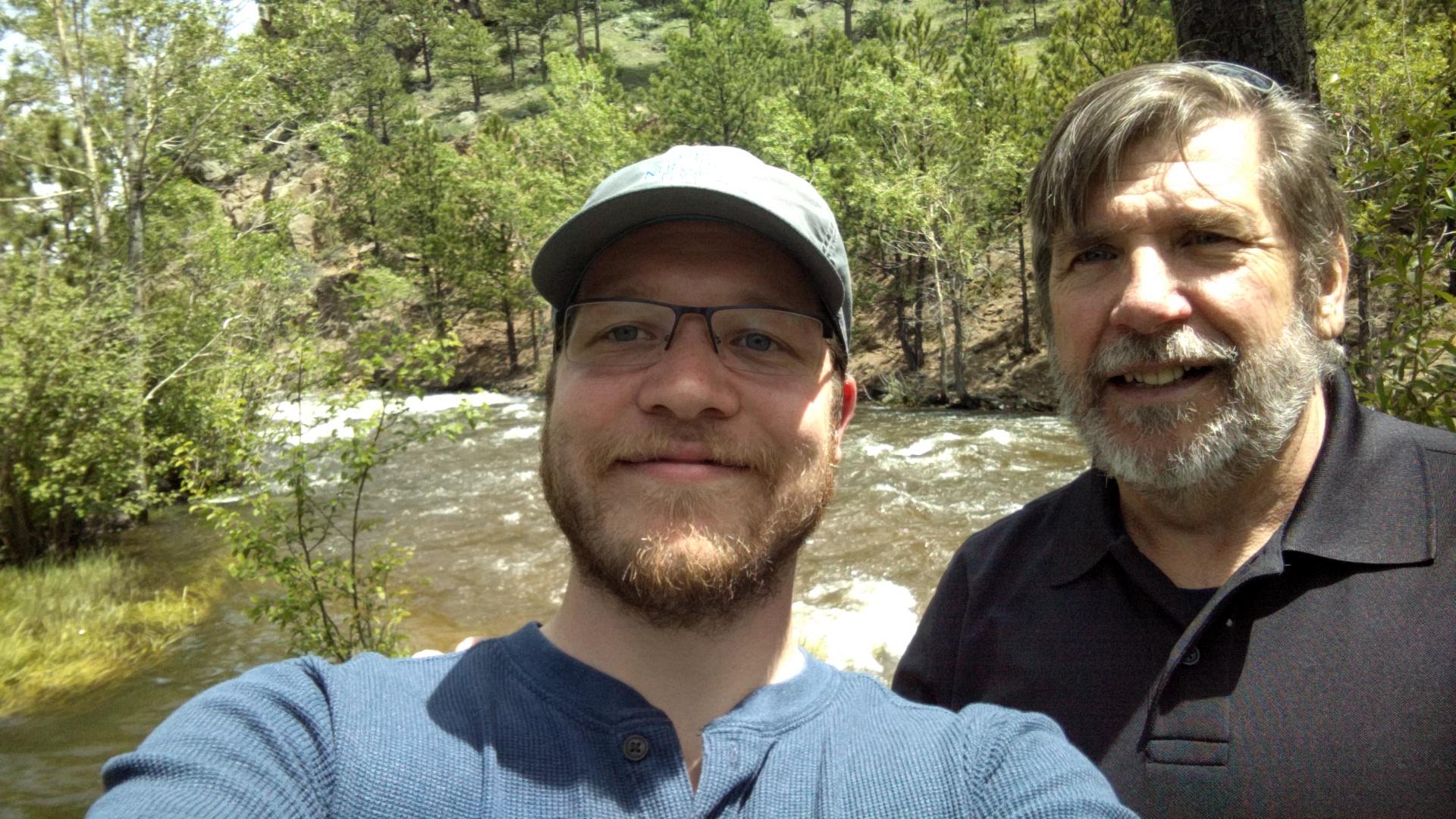 With my dad in Estes Park.