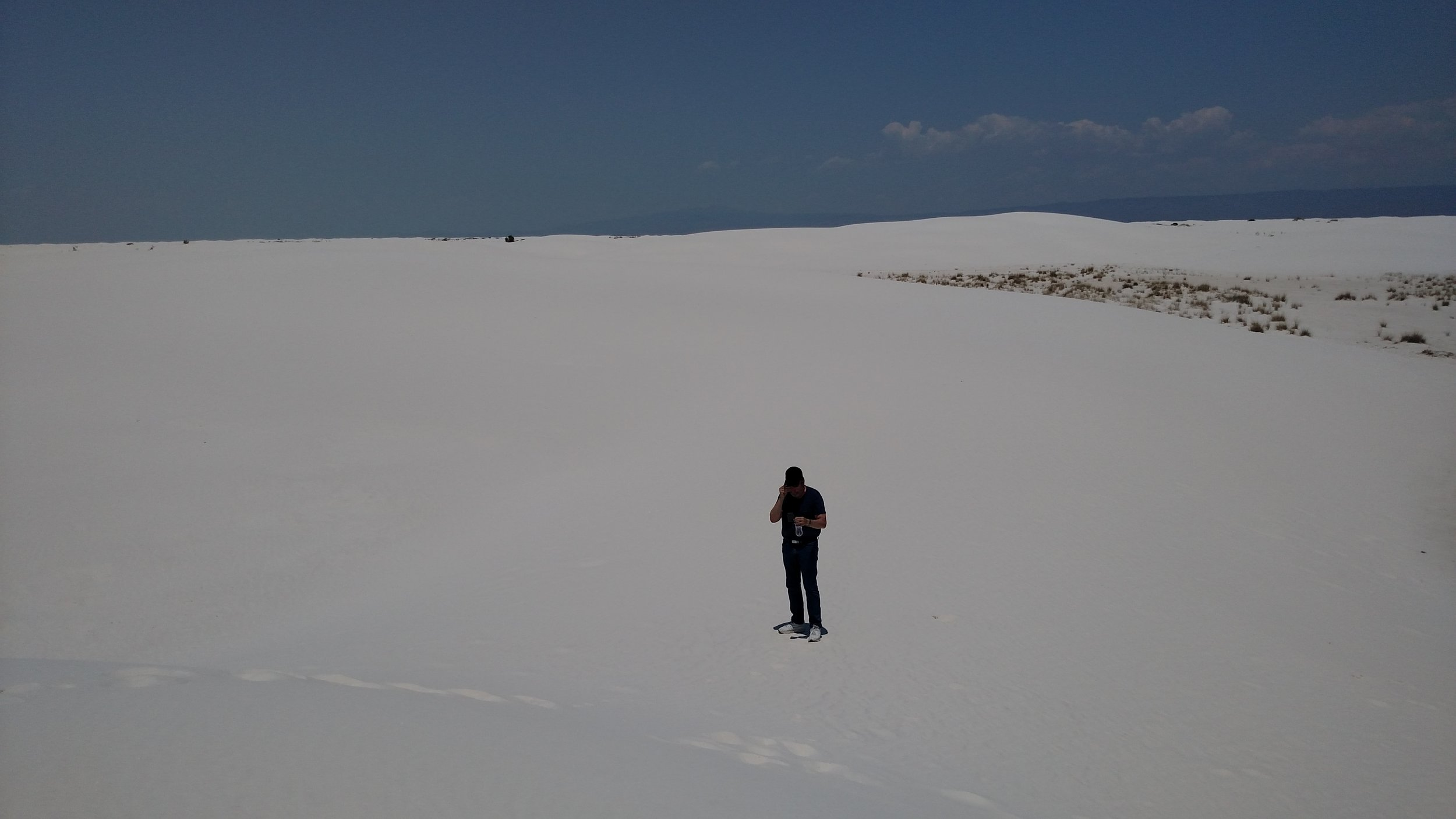 My dad in the White Sands.