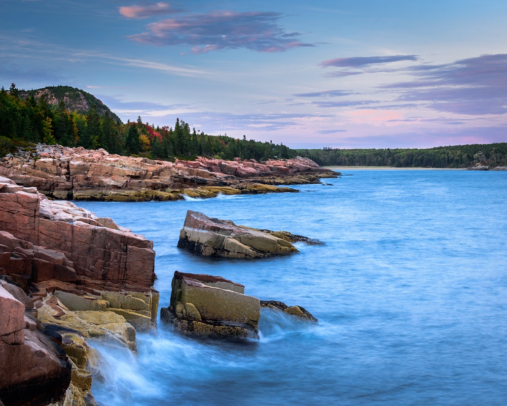 Boulder Beach from Otter Point in Acadia National Park