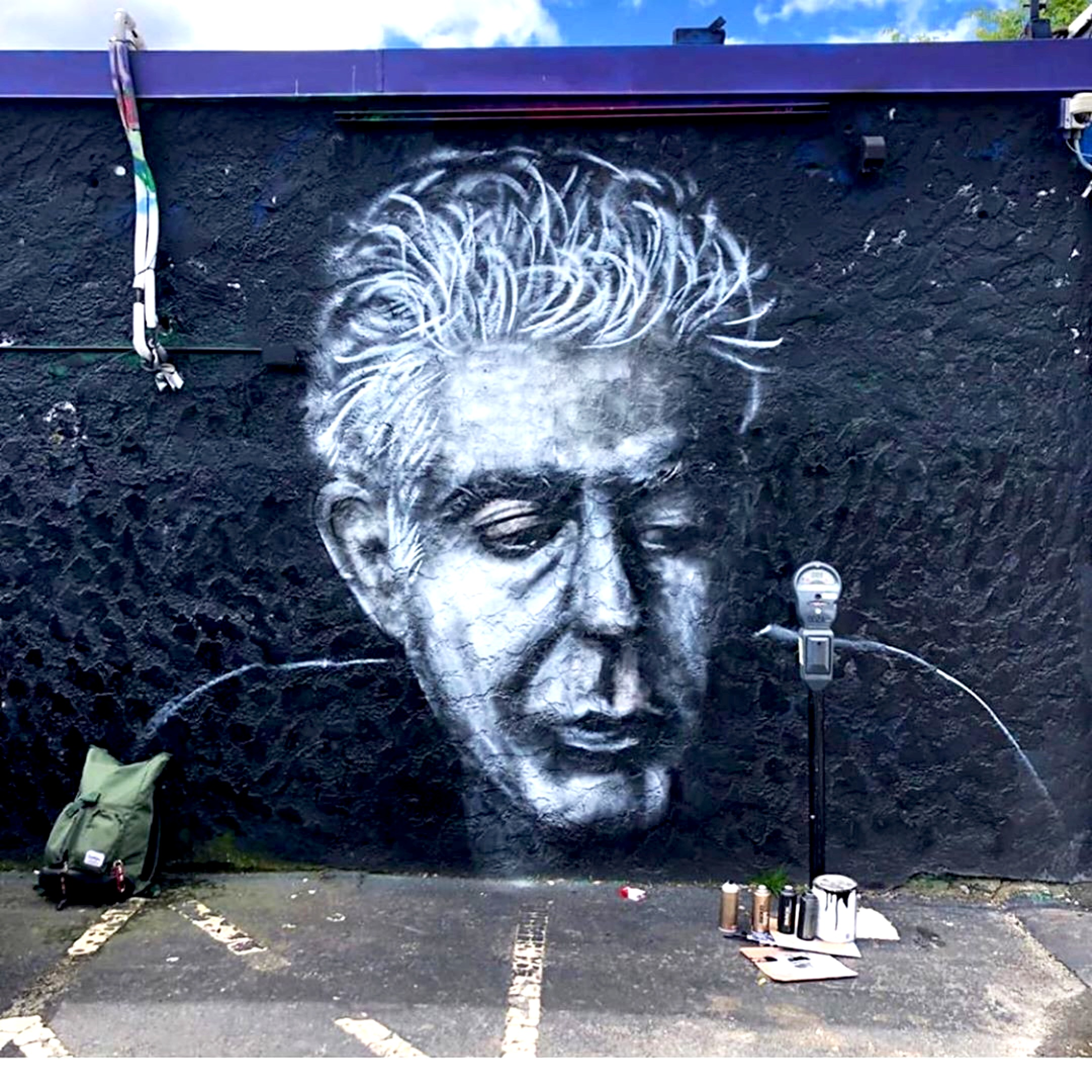 Anthony Bourdain, mural by Jack Phomphithak