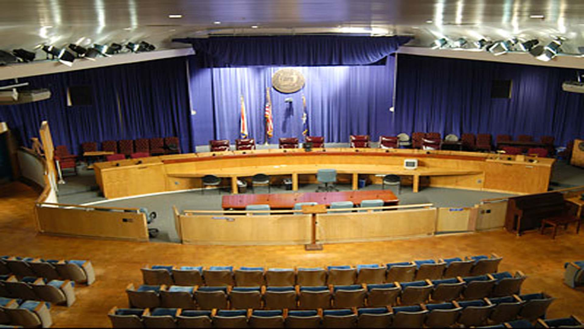 New Orleans City Council Chambers, Audio- Visual,    voting and recording system