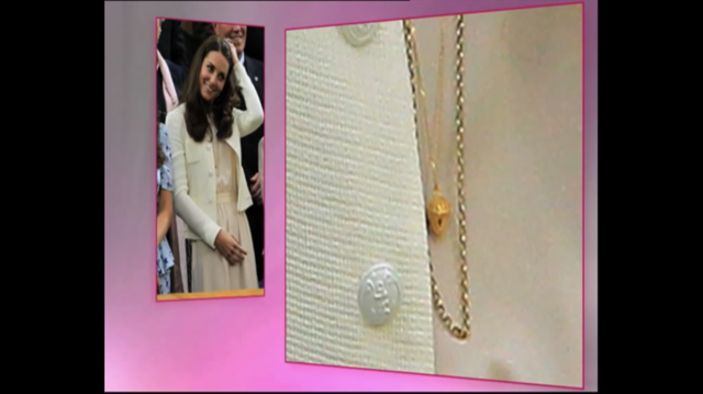 Kate Middleton wearing KristinM acorn necklace to Wimbledon final
