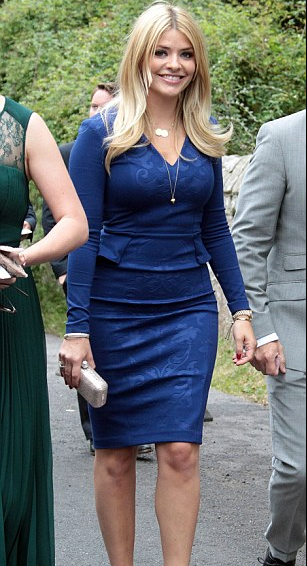 Holly Willoughby Wears Acorn Necklace to Dermot O'leary's Wedding