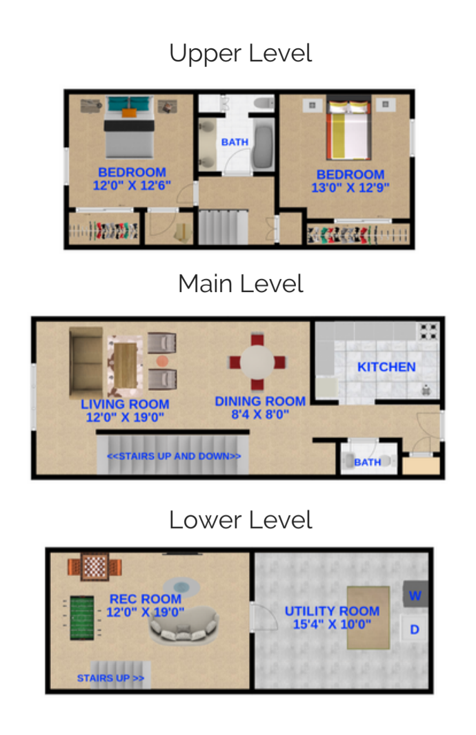 2 Bedrooms, 1.5 Bathrooms Townhome