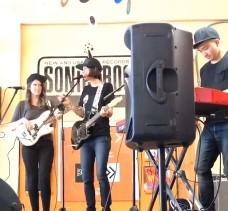 Jenn Champion performing at Sonic Boom Seattle