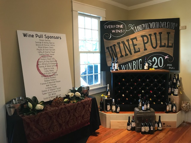 The Wine Pull is sponsored this year by The Pump House!  Buy a $20 cork and you could win a bottle of wine worth over $300!