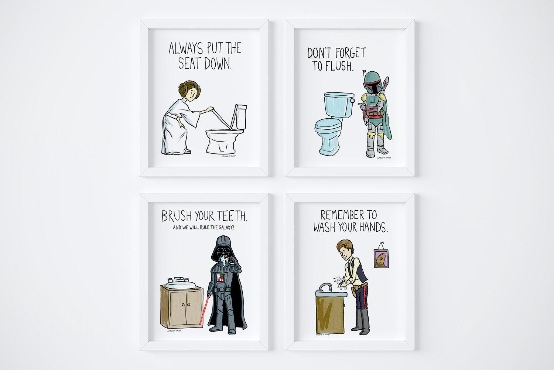 Star Wars Bathroom Reminders Nathan, Star Wars Bathroom