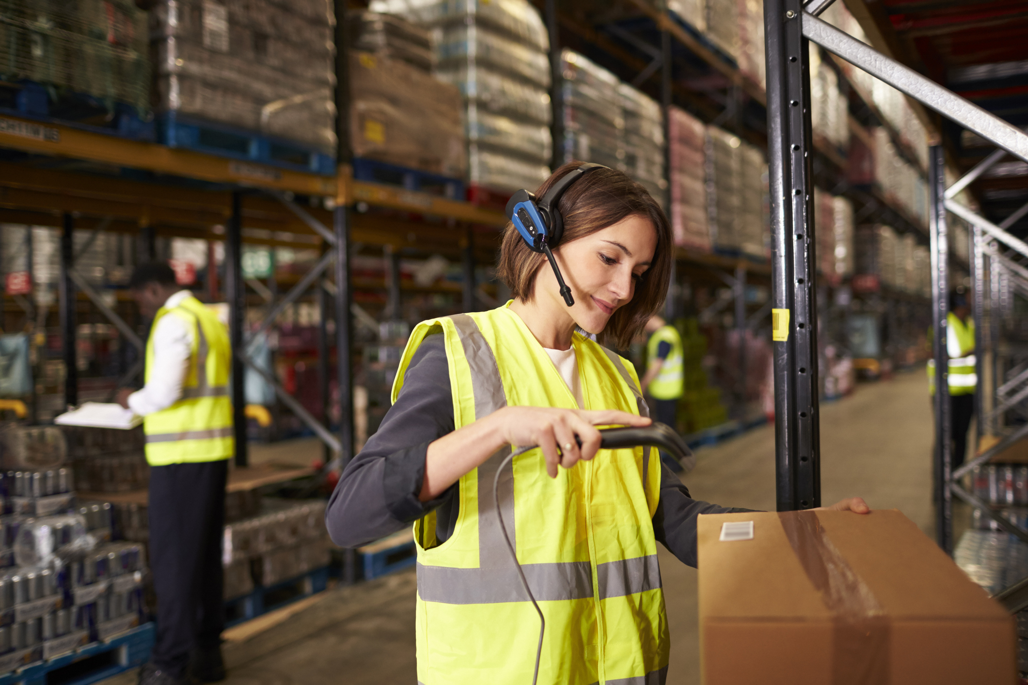 All items and completed parcels are scanned for complete accuracy and accountability