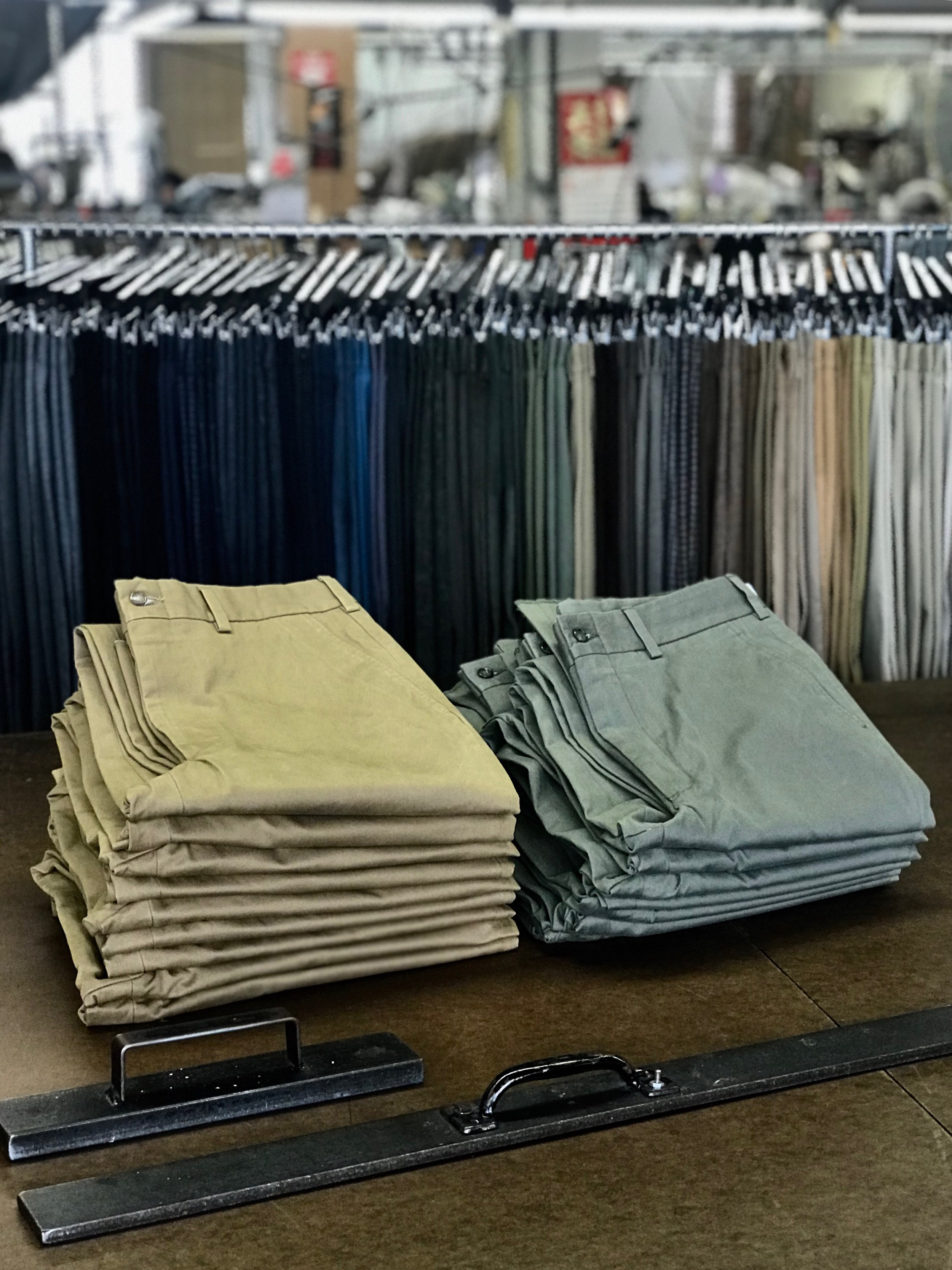 """Welcome to the Hertling Factory Outlet Store - In our pursuit of manufacturing the finest trousers, we purchase a great deal of fabric, produce samples and inventory for Hertling's design and development- as well as our retail partners. Our Factory Store provides customers an opportunity to buy beautifully handcrafted trousers at a unique price and allows us to run lean.We invite you to take advantage of deep savings for this selection of samples, excess inventory, or styles from previous seasons. We'll constantly be adding inventory as it is available, so check back frequently for hidden """"factory finds"""".Sales of this special opportunity are final, but we will always take great care of you if an issue arises. Orders over $100 from our Factory Store will ship complimentary ($10 otherwise). Enjoy the shopping."""