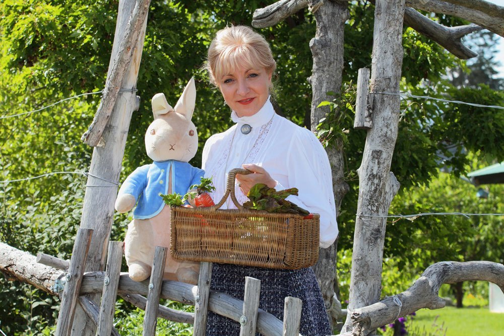 Michelle Todd as Beatrix Potter (in the company of Peter Rabbit…)