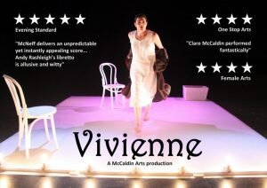 Clare McCaldin in the 2013 premiere production of Vivienne