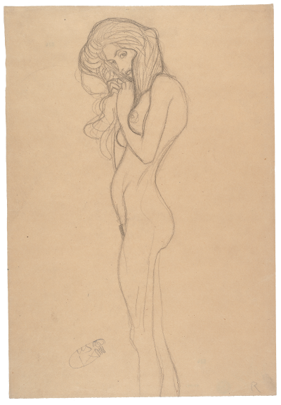 Standing Female Nude (Study for the Three Gorgons, 'Beethoven Frieze'), 1901
