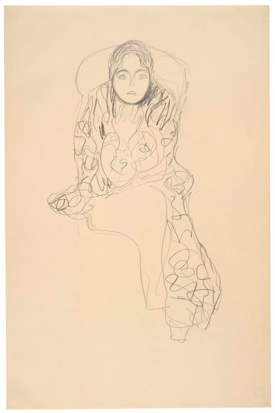 Gustav Klimt, Study for Friederike Maria Beer, 1915-16