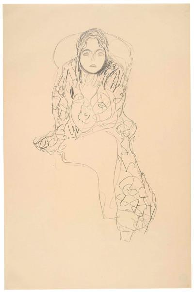 Gustav Klimt, Study for Friederike Maria Beer, 1915-16