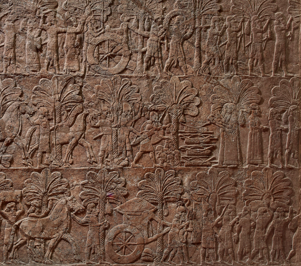 Relief depicting the Assyrian capture of Babylon. 638 – 625BC