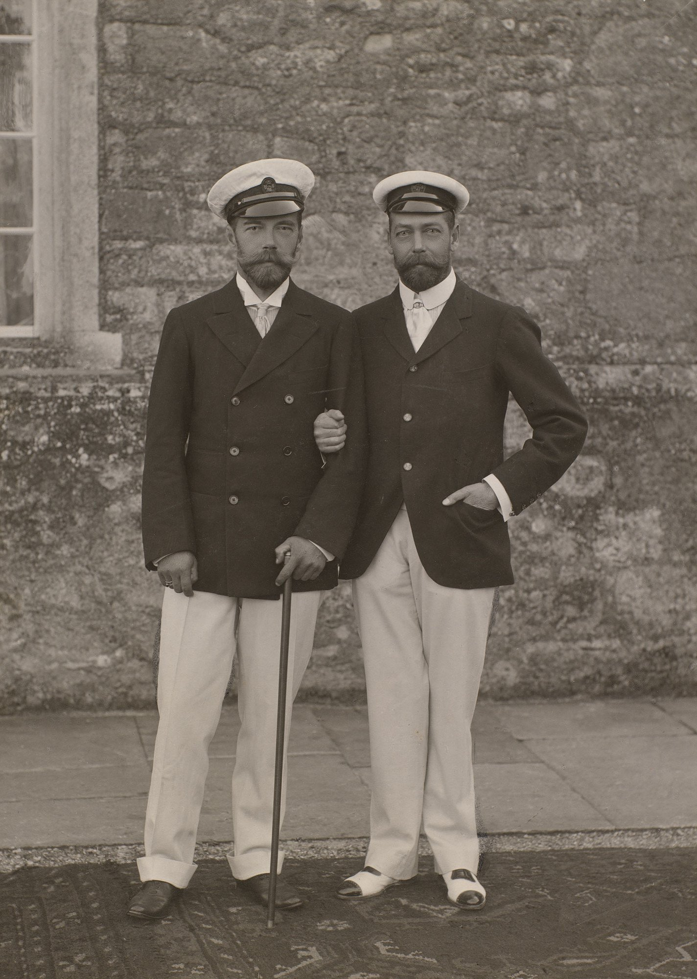 Tsar Nicholas II of Russia and George, Prince of Wales.jpg