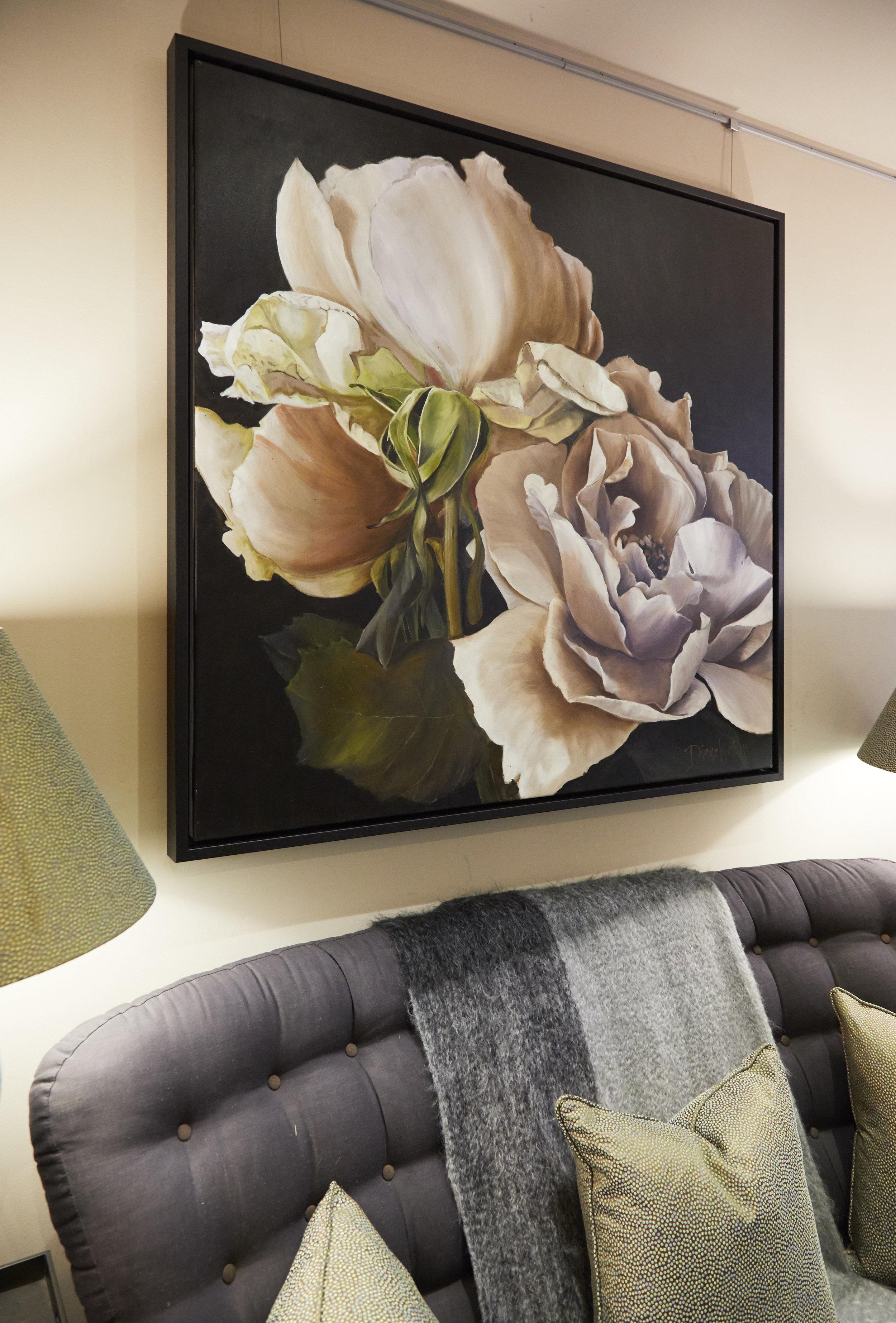 Diana Watson, Donizetti - Oil on Belgian linen in s dark wood tray frame122 x 122cm