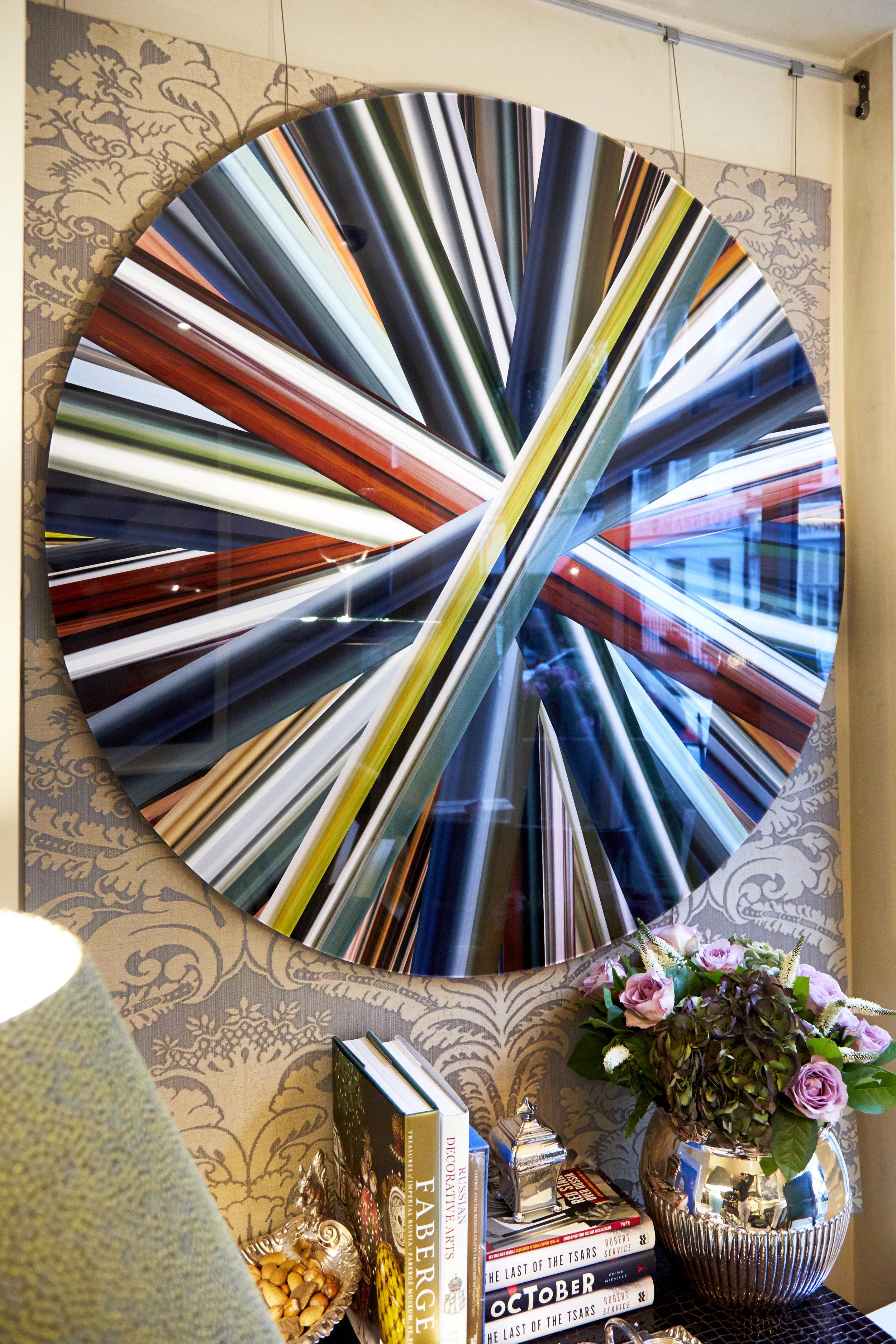 Eduardo Santos,Wheel of Light 001 - Chromogenic printFramed in acrylic and aluminium with a polished edgeLimited Edition 5/5120cm x 120cm