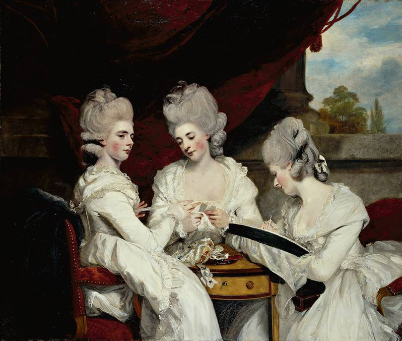 The Ladies Waldegrave (Horace Walpole's nieces), Sir Joshua Reynolds, 1781