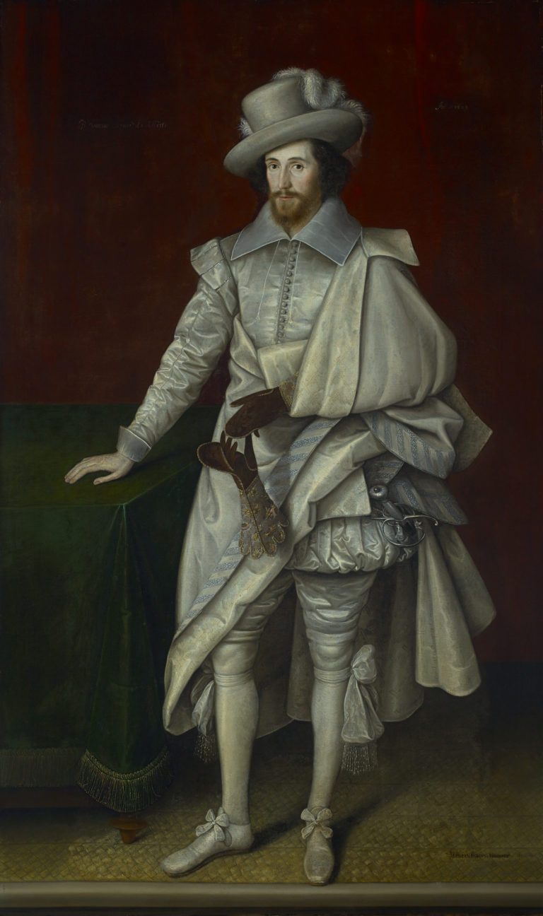 The portrait of Lord Carey, attributed to Geereats, which inspired the portrait which came alive and stepped out of its frame in The Castle of Otranto.