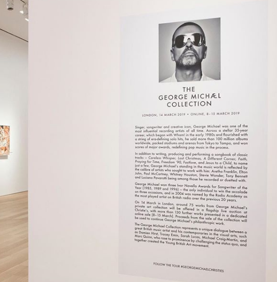 The George Michael Collection, whilst on view at Christie's, New York (this exhibition ended on 11 February)