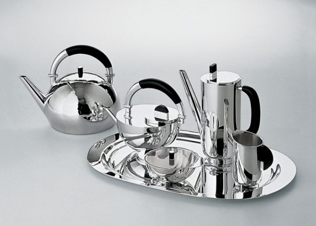 Coffee and Tea set design by Marianne Brandt
