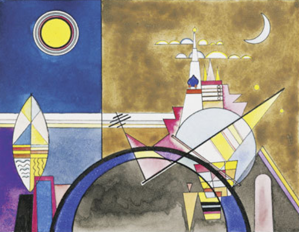 Wassily Kandinsky: Bilder einer Ausstellung (Pictures at an Exhibition), Stage design for scene XVI: The great gate of Kiev, ca. 1930, Theaterwissenschaftliche Sammlung, University of Cologne