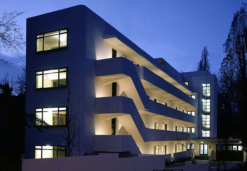 Isokon Building, Lawn Road Flats, Hampstead, London, NW3