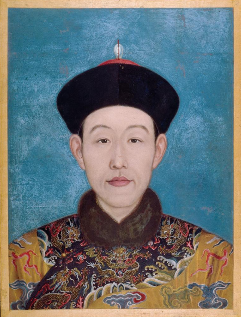 Portrait of Qianlong Emperor drawing by Giuseppe Castiglione.