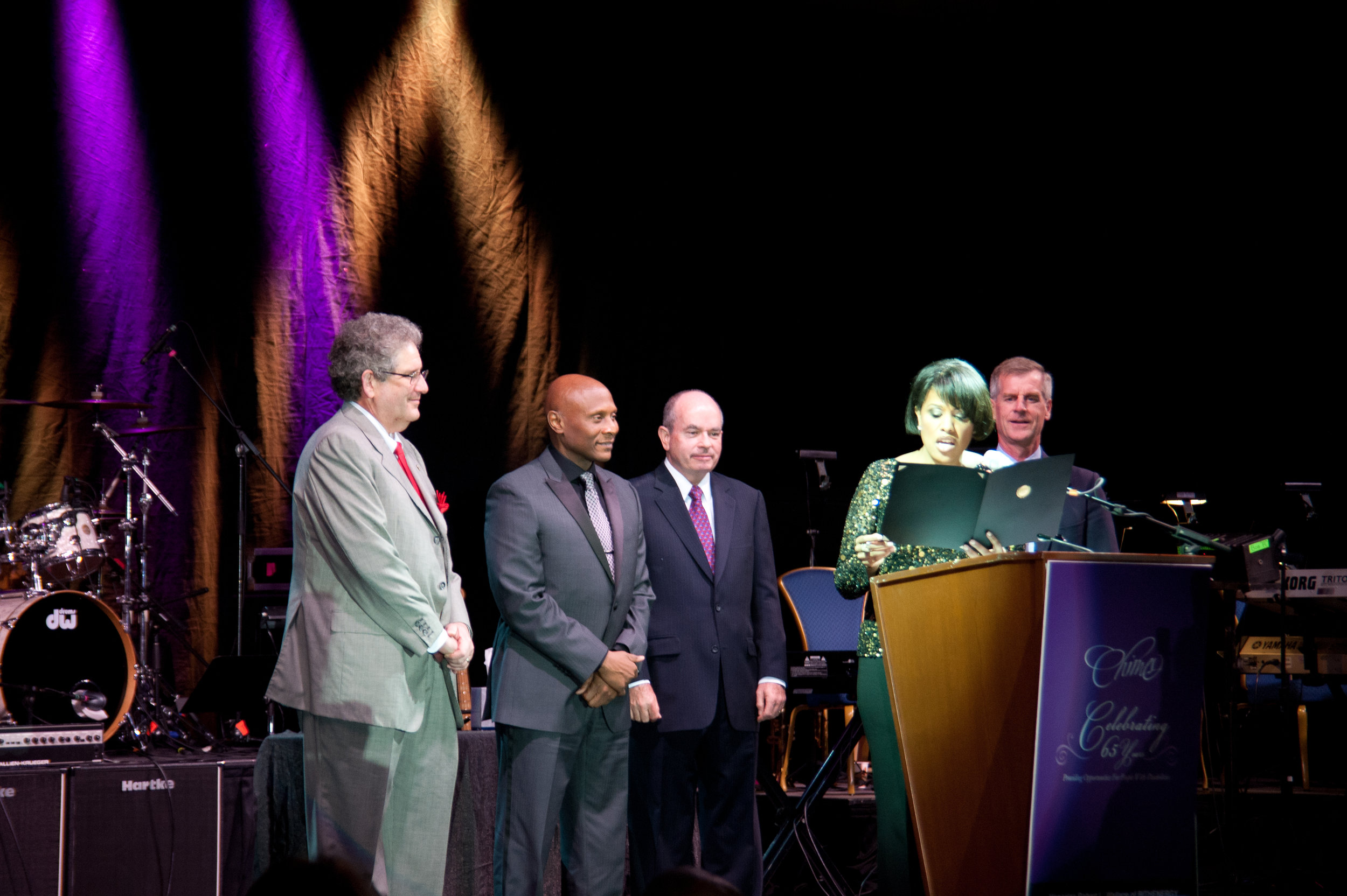 Receiving the Business Person of the Year Award from Chimes International. Robert Wallace with Baltimore Mayor Rawlings-Blake.