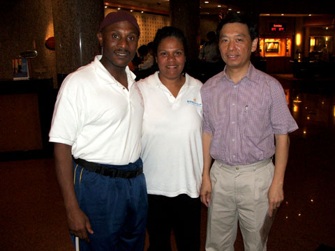 On a trade mission in Beijing, China.