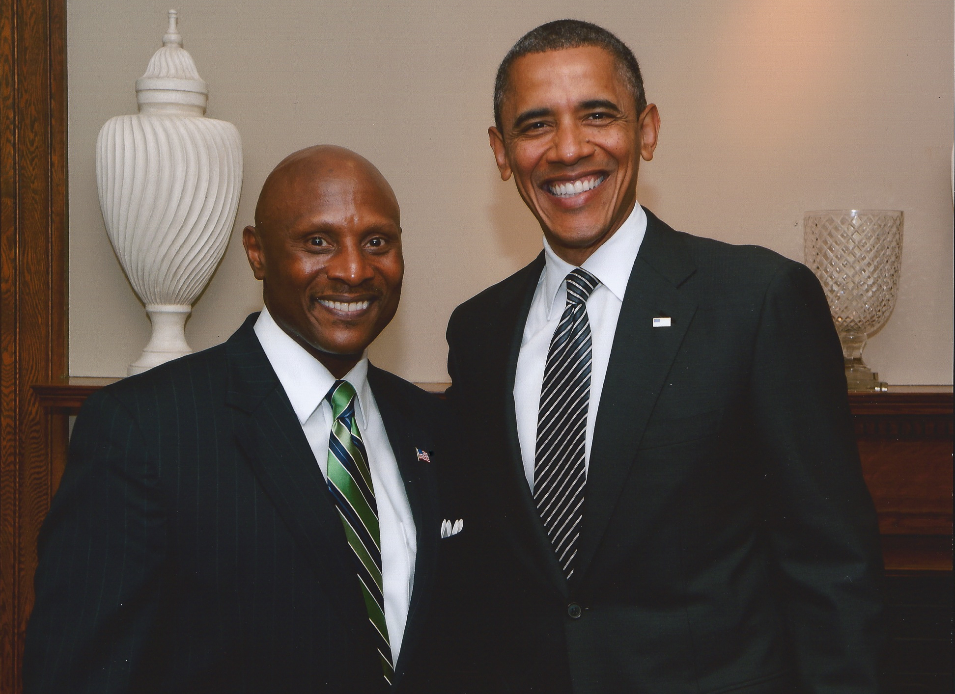 Meeting with President Obama .
