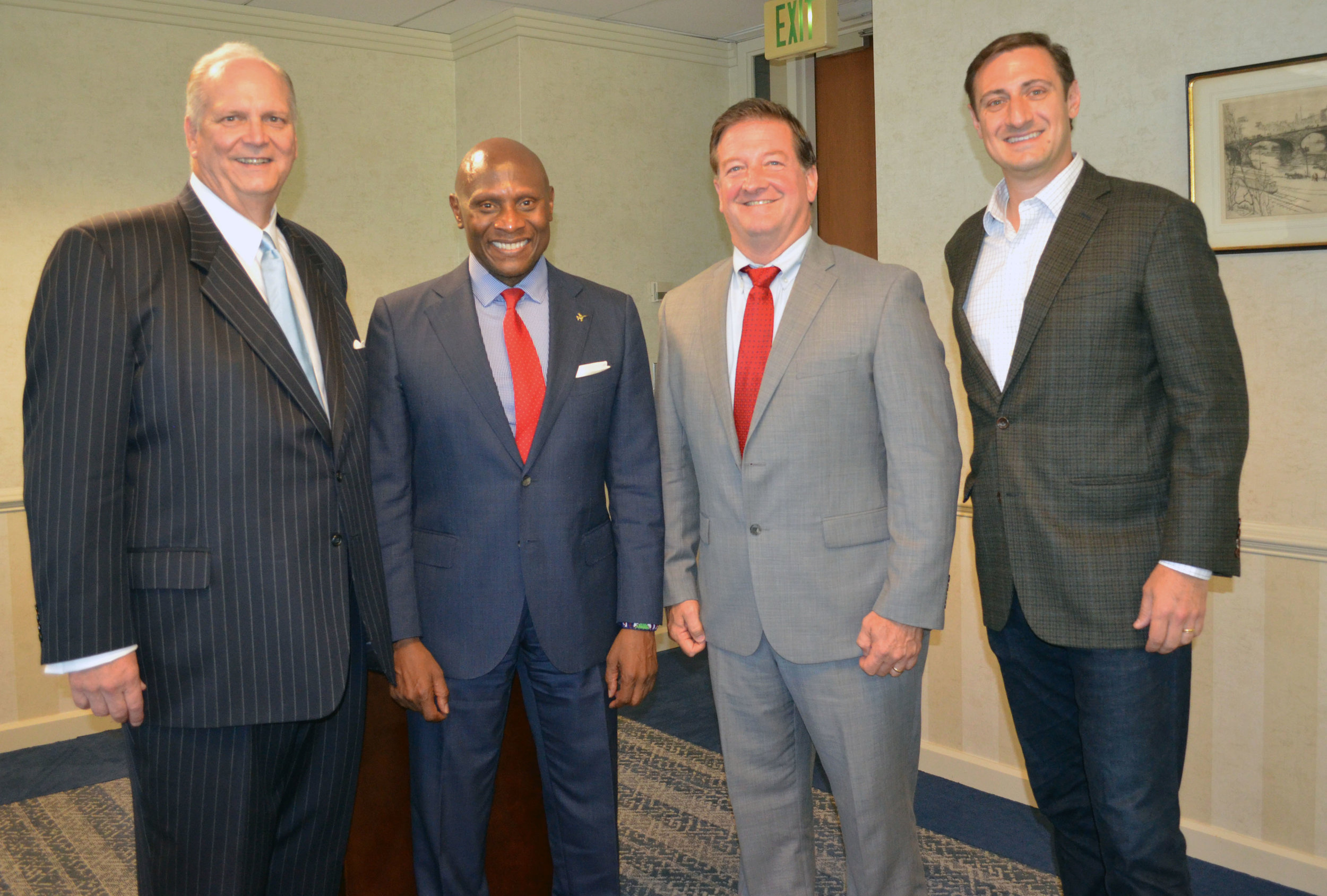 Donald Fry (GBC), Robert Wallace (BithGroup Technologies), Dave Hartman ( Hartman Advisors), Ryan LaSalle (Accenture) at Greater Baltimore Committee Cyber Security Event