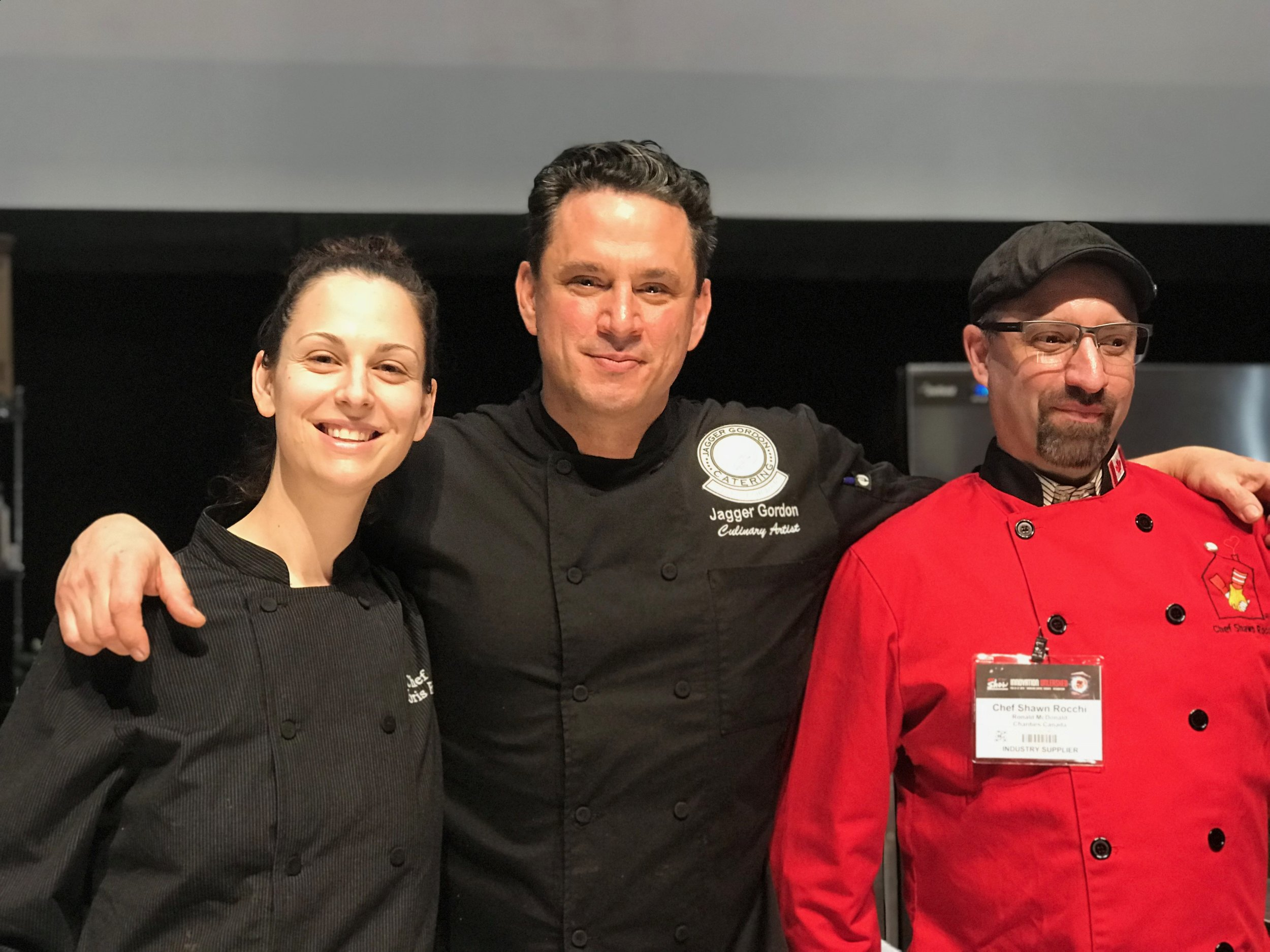 Chefs Jagger Gordon of Feed It Forward and Shawn Rocchi of Chef Alot Catering (Toronto, Canada)