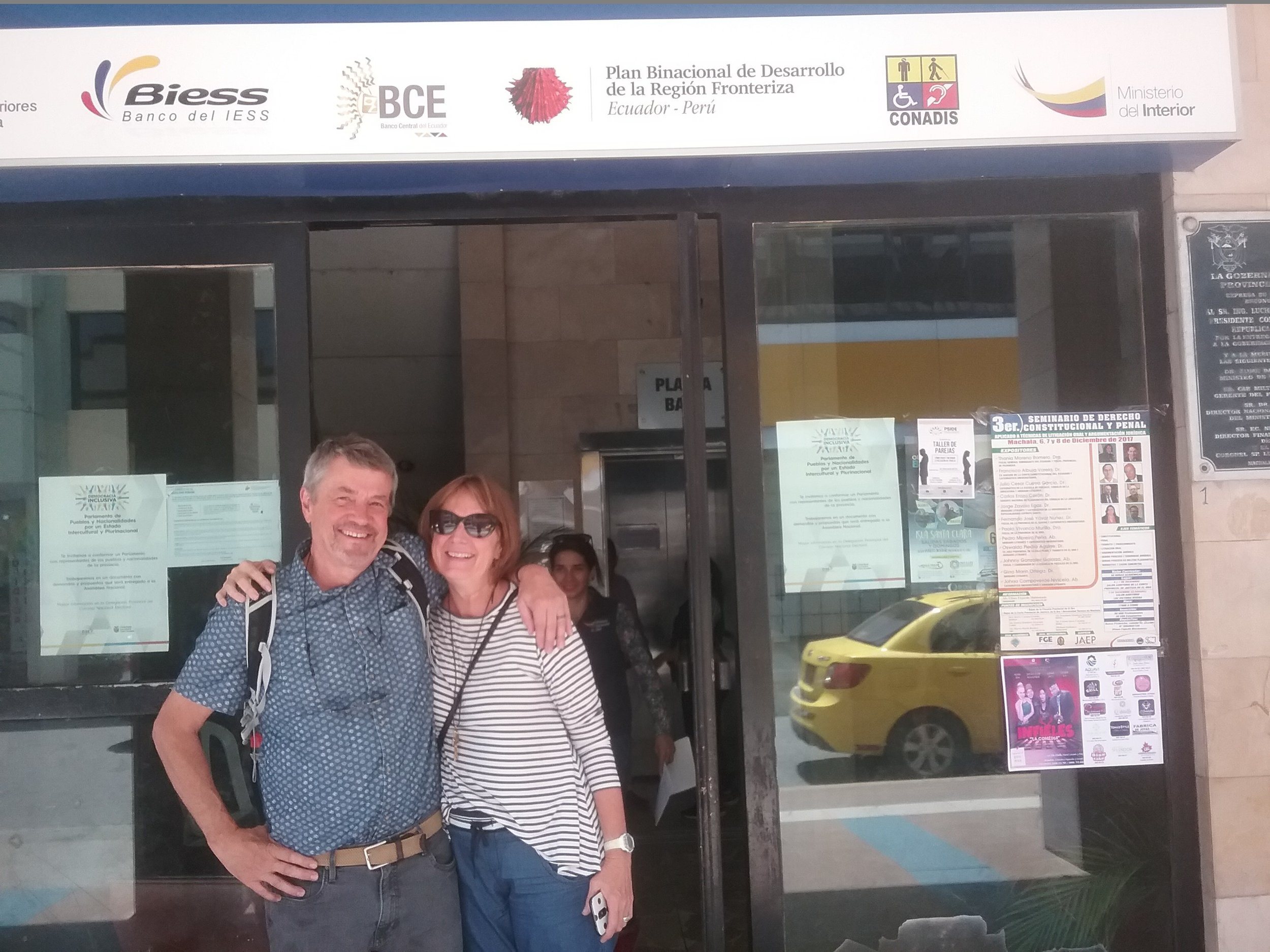 Jeff and Marcia Van Dyke out in Machala