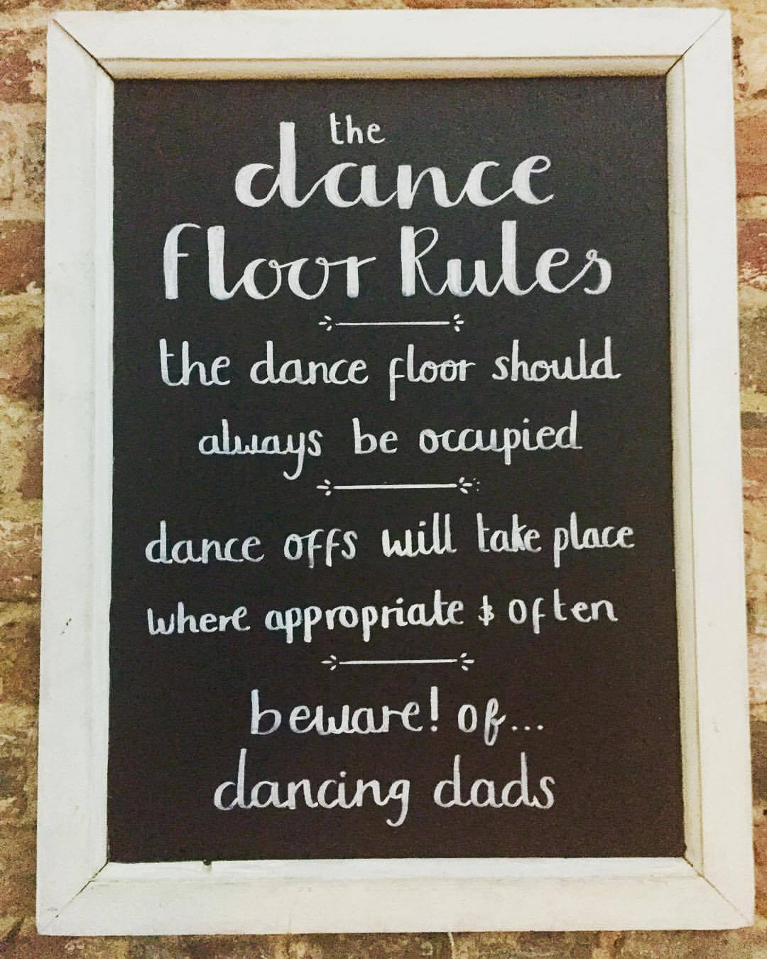 Three Tuns Dance floor rules