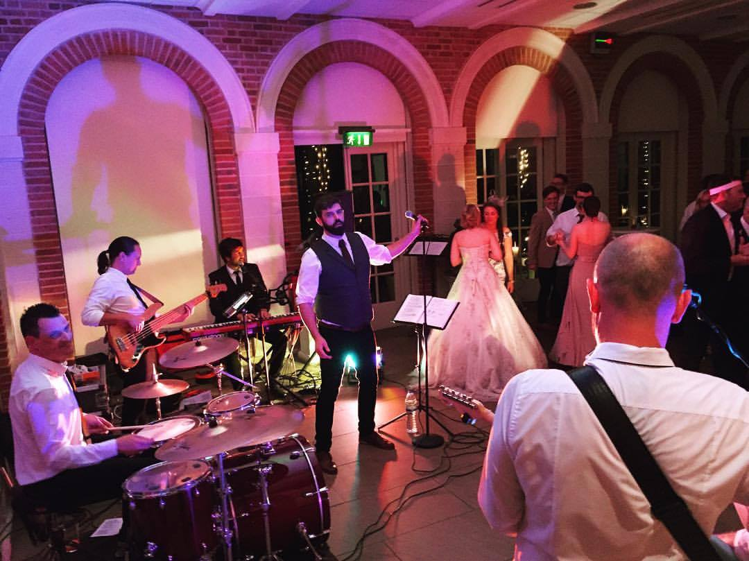 wedding band bands eye view surrey