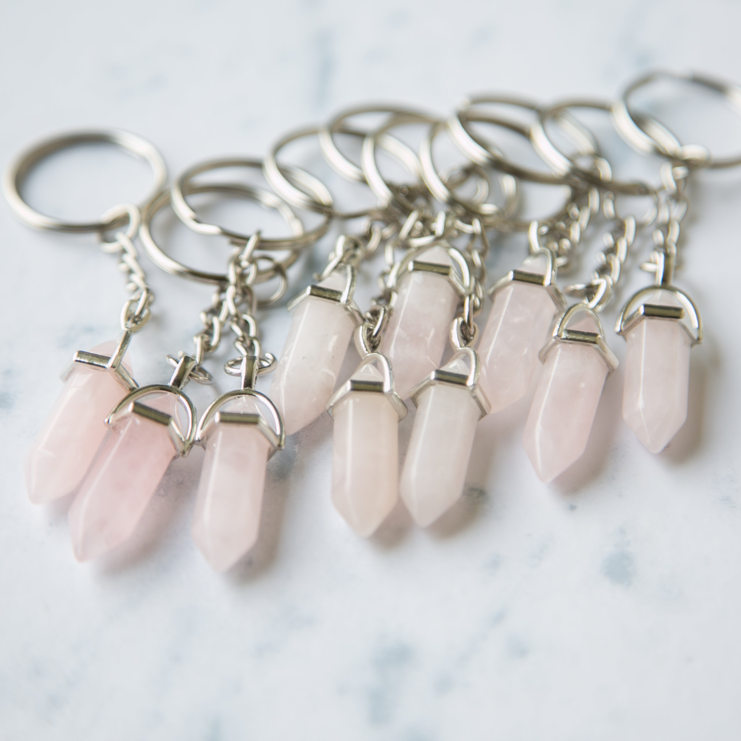 Quartz Crystal Key Chain