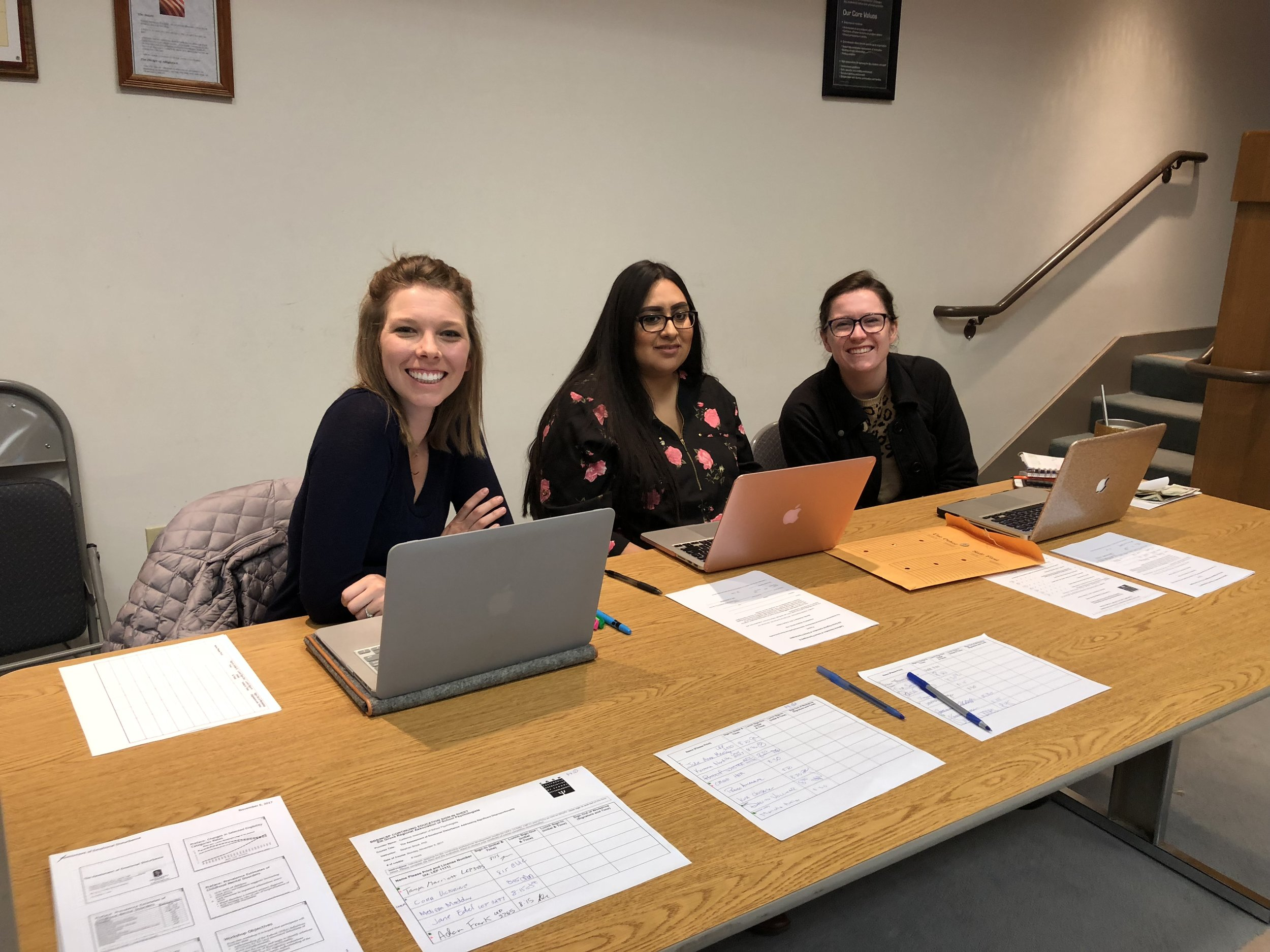 EGRASP student reps - Mary, Jessica, Amy