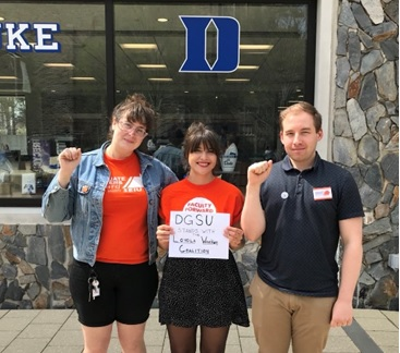DGSU members attended a recent SHIAC meeting to voice concerns about changes to Duke's health insurance plan.